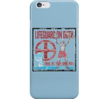 The Lifeguard Creature Is On Duty (2) variant iPhone Case/Skin