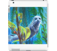 Seal in a Kelp Forest iPad Case/Skin