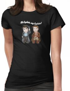 Oh Captain, My Captain! Womens Fitted T-Shirt