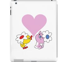 Kitty and duckling in love iPad Case/Skin