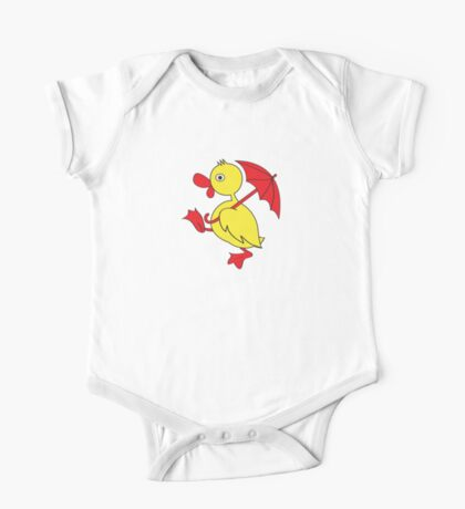 Duckling with umbrella One Piece - Short Sleeve