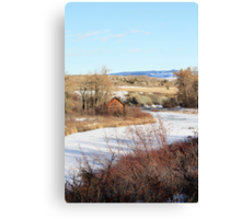 Cabin on the Riverside Canvas Print