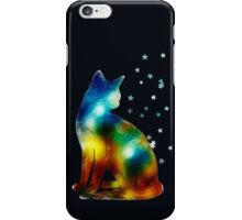 Galactic Space Cat On Milky Way, Cat, Space, Galaxy iPhone Case/Skin