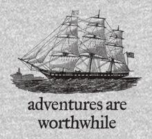 Adventure Are Worthwhile Kids Tee