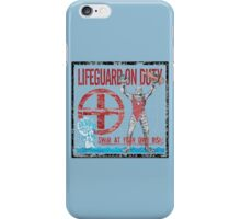 The Lifeguard Creature Is On Duty (1) variant  iPhone Case/Skin