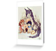 Wolf Children Greeting Card