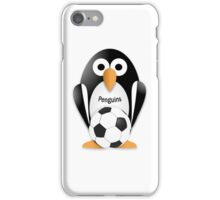 Penguin with soccer ball iPhone Case/Skin