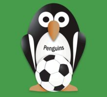Penguin with soccer ball Kids Tee