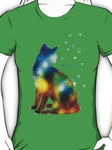 Galactic Space Cat On Milky Way, Cat, Space, Galaxy T-Shirt