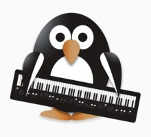 Penguin with piano keyboard Kids Tee