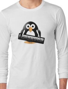 Penguin with piano keyboard Long Sleeve T-Shirt
