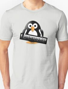 Penguin with piano keyboard Unisex T-Shirt