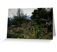 Country Flower Garden Greeting Card