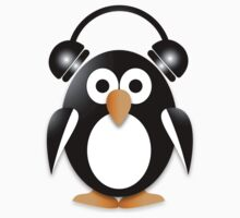 Penguin with headphones One Piece - Short Sleeve