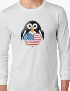 Funny penguin Long Sleeve T-Shirt