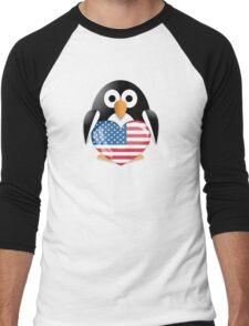 Funny penguin Men's Baseball ¾ T-Shirt