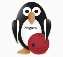 Penguin with bowling bow One Piece - Short Sleeve