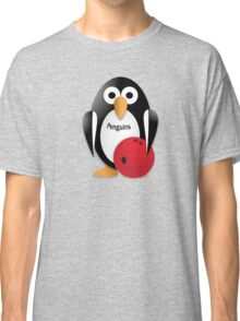 Penguin with bowling bow Classic T-Shirt