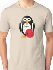 Penguin with bowling bow Unisex T-Shirt