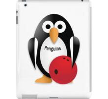 Penguin with bowling bow iPad Case/Skin