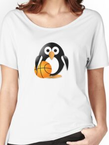Penguin with a basketball ball Women's Relaxed Fit T-Shirt