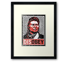 Chief Joseph Disobey Framed Print