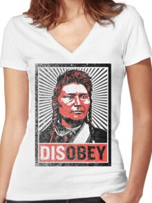 Chief Joseph Disobey Women's Fitted V-Neck T-Shirt