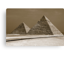 The Wonder of Giza Canvas Print