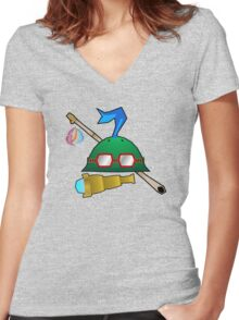 Teemo's Gear Women's Fitted V-Neck T-Shirt