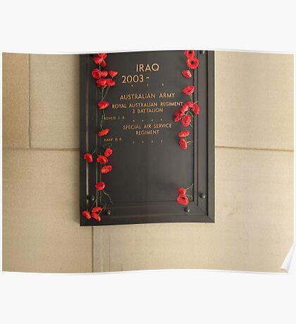 Iraq Memorial Poster