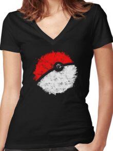 Poké Ball Women's Fitted V-Neck T-Shirt