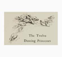 Hansel & Grethel & Other Tales by Grimm Wilelm and Jacob art by Arthur Rackham 0071 Twelve Dancing Princesses Kids Tee