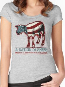 A Nation of Sheep Women's Fitted Scoop T-Shirt
