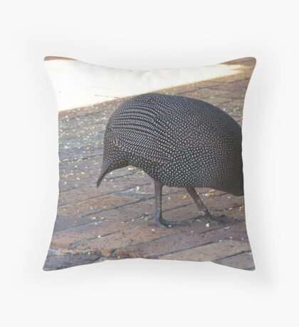 Guinea fowl mother  Throw Pillow