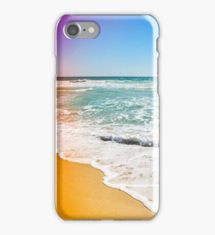 Beach in Vintage Colours iPhone Case/Skin