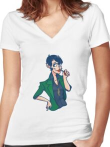 Lady Lupin Women's Fitted V-Neck T-Shirt