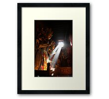 That's where the light gets in  Framed Print