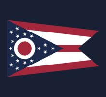Ohio Columbus USA State Flag Bedspread T-Shirt Sticker Kids Tee