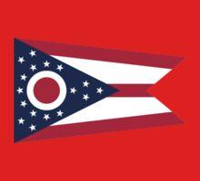Ohio Columbus USA State Flag Bedspread T-Shirt Sticker Kids Clothes