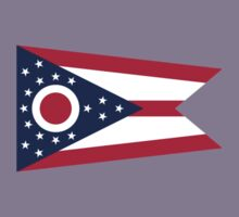Ohio Columbus USA State Flag Bedspread T-Shirt Sticker Kids Tee