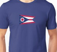 Ohio Columbus USA State Flag Bedspread T-Shirt Sticker Unisex T-Shirt