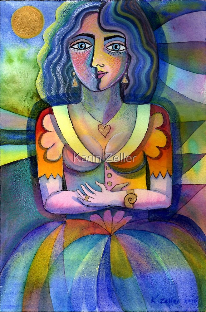 Colourful lady by Karin Zeller