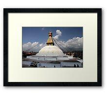 Boudhnat stupa Framed Print