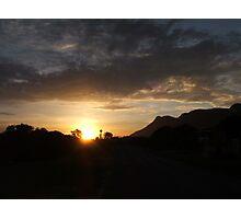Roof sunset Photographic Print