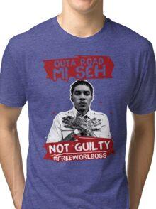 Outa Road! - #FREEWORLBOSS TEE Tri-blend T-Shirt