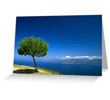Lonley tree Greeting Card
