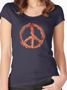 Peace of Bacon Women's Fitted Scoop T-Shirt
