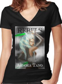 Ahsoka Tano - Rebels Women's Fitted V-Neck T-Shirt