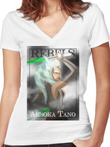 Ahsoka Tano - Rebels Women's Fitted V-Neck T-Shirt