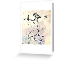 dancer 6 - the rain Greeting Card